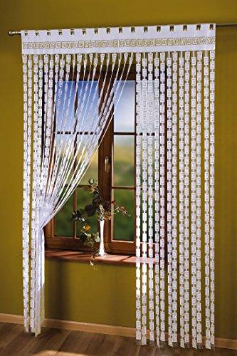 Clave griega panel cortina cuerda gruesa blanca 1,5