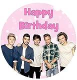 One Direction Happy Birthday Kuchen Topper essbar Zuckerguss 19.1cm