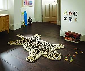 Tapis de jeu/tapis d'éveil en forme de léopard - chambre enfant/salle de jeux 90 x 150cm