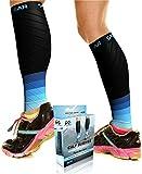 Calf Compression Sleeve for Men & Women, Best Footless Socks for Shin Splints & Leg Cramps, Runners Calves Circulation Remedy, Support Stockings, Running Gear, Basketball Lycra Tights -Free Ebook