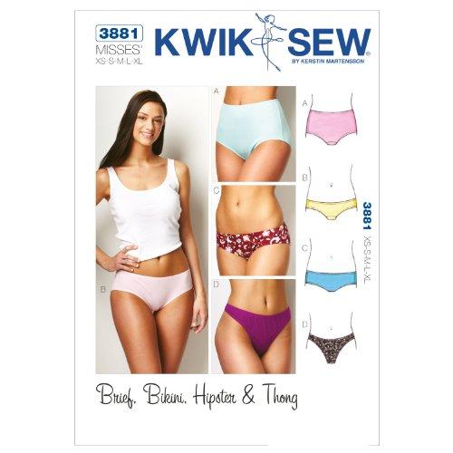 KWIK Schnittmuster K3881, Größe XS, S, M, L, XL, Unterhosen, Weiß, 1 Stück (Mccall Pattern Kostüme)