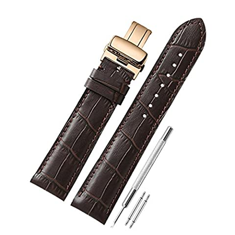 CHIMAERA Geniune Calf Leather Replacement 18mm 19mm 20mm 21mm 22mm Watch Strap Bracelet Butterfly Buckle Watchstrap