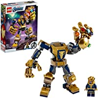 LEGO 76141 Super Heroes Marvel Avengers Thanos Mech Toy, Battle Action Figure, Junior Set for Kids 6 + Year Old