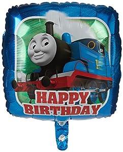 Amscan International 3527501 Thomas The Tank Happy Birthday - Globo de papel de aluminio