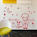 BBH.LEE Der Kleine Prinz Und Der Fuchs/Cartoon/Kinderzimmer Wandbild Dekorative Wand Sticker/Aufkleber, Gules, X-