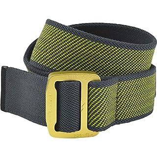 AustriAlpin Textilgürtel Stretch Cobraframe® 38, Farbe:gelb/Alu eloxiert, Größe:Gr. S (90 cm)