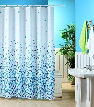 Blue Canyon MOSAIC PATTERNED POLYESTER 180 X 180CM SHOWER CURTAIN