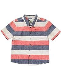 Ocean Pacific Kinder Jungen All Over Print Hemd Leicht Kurzarm Gestreift