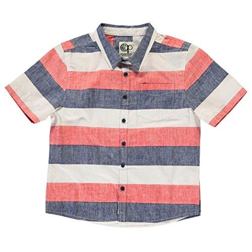 ocean-pacific-ninos-por-todo-estampa-camisa-junior-chicos-mangas-cortas-top-blue-red-white-9-10-mb