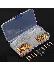 Excellway Tc02 120Pcs Brass Bullet 3.5Mm Bornier Connecteur
