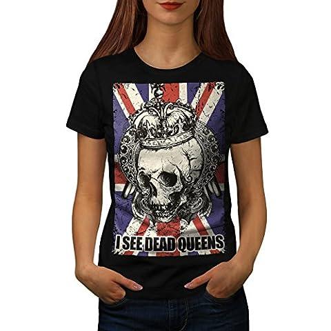 Schädel Tot Königin Metall Vereinigtes Königreich Skelett Vereinigtes Königreich Damen M T-shirt | Wellcoda