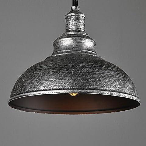 Vintage Metal Finish Ceiling Lamp Pendant Light E27 Socket Edison