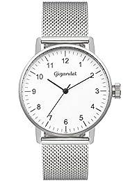 Gigandet Quarz Damen-Armbanduhr Minimalism Uhr Analog Edelstahlarmband Silber G27-005