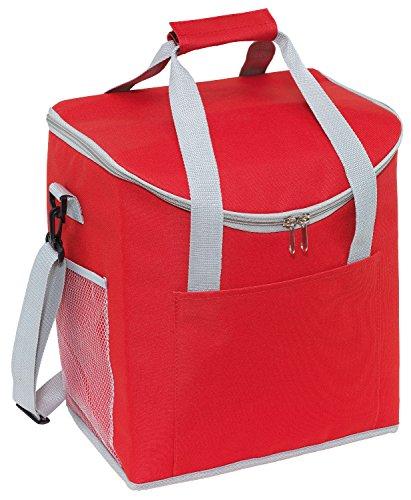 Kühltasche Rot verfügt über 2 seitliche Netzeinsteckfächer Isoliertasche 32 x 23 x 37 cm verstärkte Tragegriffe Thermotasche verstell & abnehmbarer Schultergurt