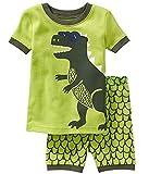 Kinder Nachtwäsche Short Pyjamas Set Jungen Dinosaurier Tier Baumwolle Sommer Kleidung Shirts Nachtwäsche 3-4Y
