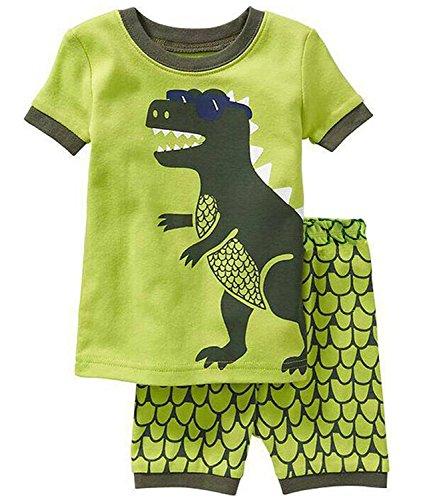 Kinder Nachtwäsche Short Pyjamas Set Jungen Dinosaurier Tier Baumwolle Sommer Kleidung Shirts Nachtwäsche 2-3Y