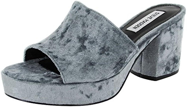 Steve Madden donna Relax Platform Sandal Sandal Sandal scarpe, blu Velvet, US 7 | New Style  ad3dbd