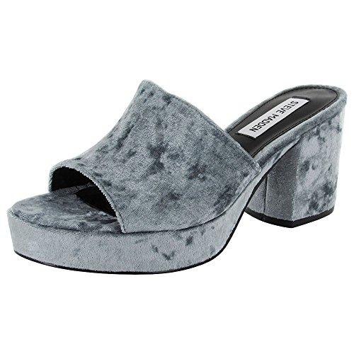 Steve Madden Womens Relax Platform Sandal Shoes, Blue Velvet, US 6 Womens Penny Loafer