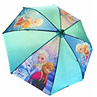 Disney® Frozen Kids Children Girls Blue Umbrella Brolly (Anna & Elsa) - Sun/Rain - Official