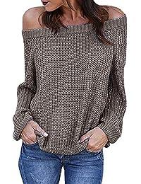Amazon.es  jerseys de punto mujer largos - Jerséis   Jerséis ... d47c03c74665
