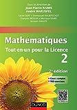 """Mathématiques Tout-en-un pour la Licence 2 : Cours complet, exemples et exercices corrigés (Mathématiques """"tout en un """" pour la Licence t. 1) (French Edition)"""