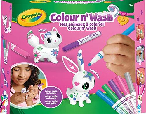 (Crayola – Set mit Kleinen Tieren, zum Ausmalen waschbar, 74-7264-F-0031, Unisex)