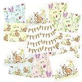 Tigers on the Loose - Tovaglioli per decoupage, confezione da 22 pezzi, 3 strati, 33 x 33 cm (2 tovaglioli ciascuno di 11 diversi disegni) - Sweet Lovely Bunnies