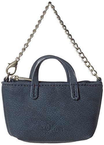 s.Oliver (Bags) Damen Schlüsselanhänger Schal, Blau (Blau), 2x6.5x13 cm (Kunstleder 6.5 Blau,)
