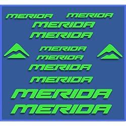 PEGATINAS STICKERS MERIDA DR1103 BIKES STICKERS AUFKLEBER DECALS AUTOCOLLANTS ADESIVI MTB BTT (VERDE)