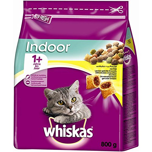 Whiskas secco Adult 1 + Indoor con pollo | 800 G Gatto Fodera