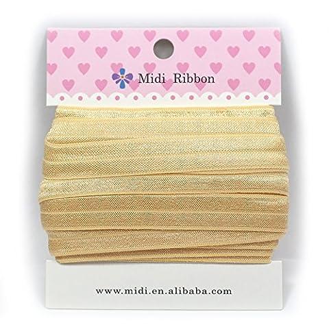 mdribbons valeur Lot de 5/20,3cm 10mètres/Lot (16mm large 9.144M Longueur) massif stretch se replie sur elastic-diy Crafts, cheveux de bandeau accessoires cheveux de supplies-52massif couleurs disponibles