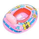 Baby Babyboot Schwimmring Schwimmsitz Schwimmhilfe Cartoon Bee Pink