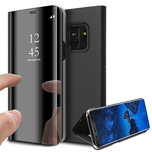 Coque Etui Housse pour Samsung Galaxy s9 case Clear View Etui à...