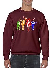 Herren Lustige Spr�che fun Sweatshirts-Michael Jackson Coloured Silhoutte-tshirt