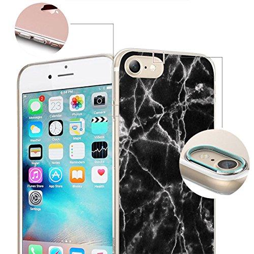 finoo | iPhone 8 Weiche flexible Silikon-Handy-Hülle | Transparente TPU Cover Schale mit Motiv | Tasche Case Etui mit Ultra Slim Rundum-schutz | Gameboy Schwarze Textur Risse