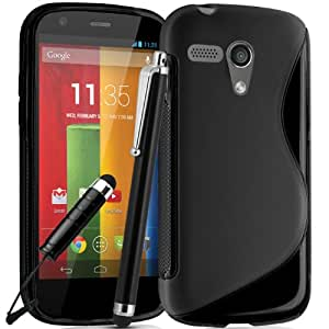 Motorola Moto G 1st Generation Premium TPU Hydro Gel Case Cover included Screen Protector and Polishing Cloth Capacitive Stylus Pen