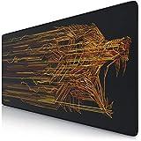 TITANWOLF - XXL Tapis de Souris de Jeu Speed de Mousepad Mouse Mat 900 x 400 mm | sous-Main de Table | Design : Orange Wolf