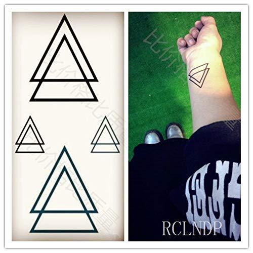 tzxdbh Wasserdicht Tattoo - Aufkleber Berg - Birnen - Hügel - Dreieck Tatto Tatoo Hand Verteidigung Fuß für Mädchen, Frauen, Männer Kinder-in Tattoos von Grou Dunkel Khaki -