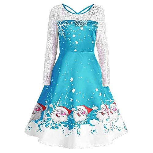 Weihnachtenkleid Sannysis Damen Elegant Abendkleid Weihnachten Langarm Party -