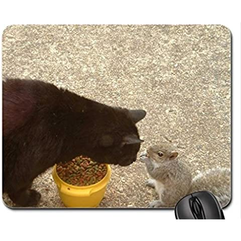 cat and squirrel Mouse Pad, Mousepad (Cats Mouse Pad)