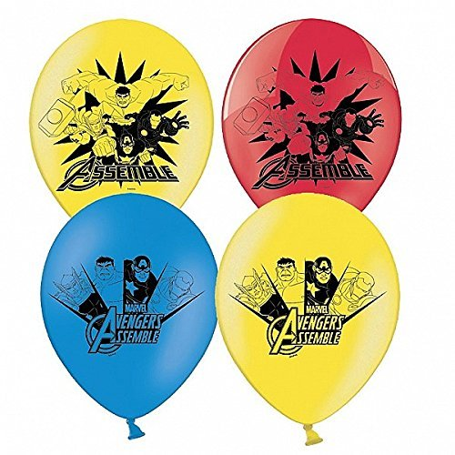 Latex Ballons Marvel Avengers 28cm 6er Pack