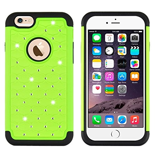 Phone case & Hülle Für IPhone 6 Plus / 6S Plus, Fußball Textur Kunststoff Fall ( Color : Grey ) Green