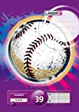 LANDRE 100050047 Schulheft 10er Pack A4 16 Blatt Lineatur 39 - rautiert mit Doppelrand perforiert und gelocht 3 Motive sortiert