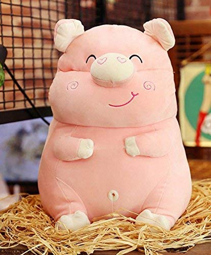 Easyflower Lovely Soft Toy Stuffed 55cm Tall Huging Pig Animals Plush Soft Pig Toys Gift for Kids (Skin Pink)