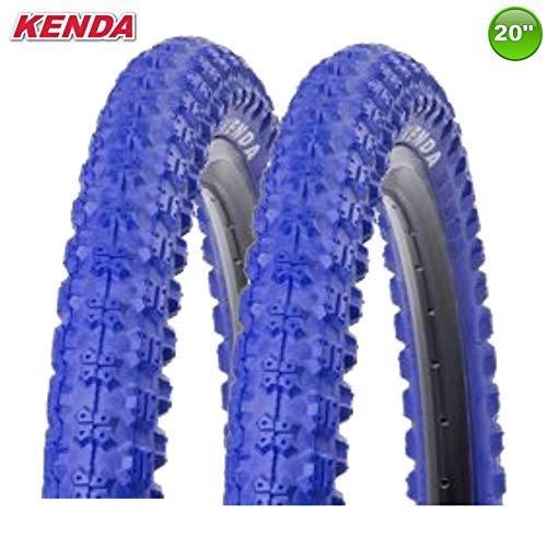 2 x Kenda K-51 Fahrrad BMX - Reifen Mantel Decke Blau 20 x 2.25-58-406 -