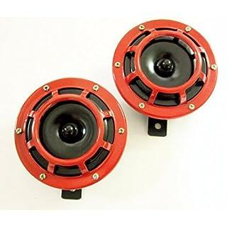 Laute Hupe, Super-Ton, Gitter-montiert, kompakt 125mm, rund, Rot, 12V–14000601