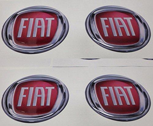 50mm Rouge Tuning effet 3d 3m résine caches roues enjoliveurs Caps autocollants stickers pour jantes en alliage x 4pièces