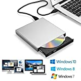 Zacfton Externes CD DVD Laufwerk USB 2.0, CD-RW DVD-R CD Brenner für Laptop Notebook PC...