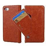 YQXR Telefon zubehör Für iPhone 6 / 6S, einfache Business Litchi Textur PU Leder Magnetic Wallet Schutzhülle mit Kartensteckplätze Tasche (Farbe : Braun)