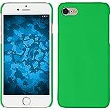 PhoneNatic Case für Apple iPhone 8 Hülle grün gummiert Hard-case für iPhone 8 + 2 Schutzfolien